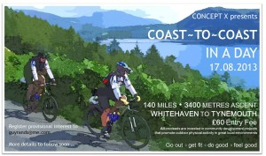 Coast – to Coast in a day charity ride