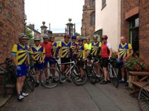 The Wrinklies ride to Audlem