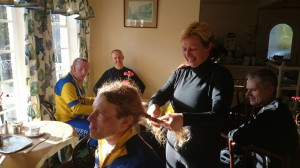 Cycling, and hairdressing?