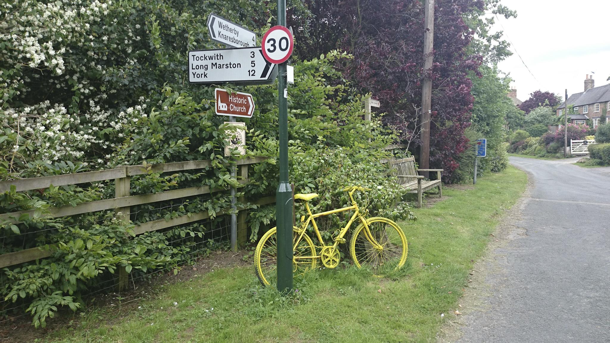 Yellow bikes everywhere.