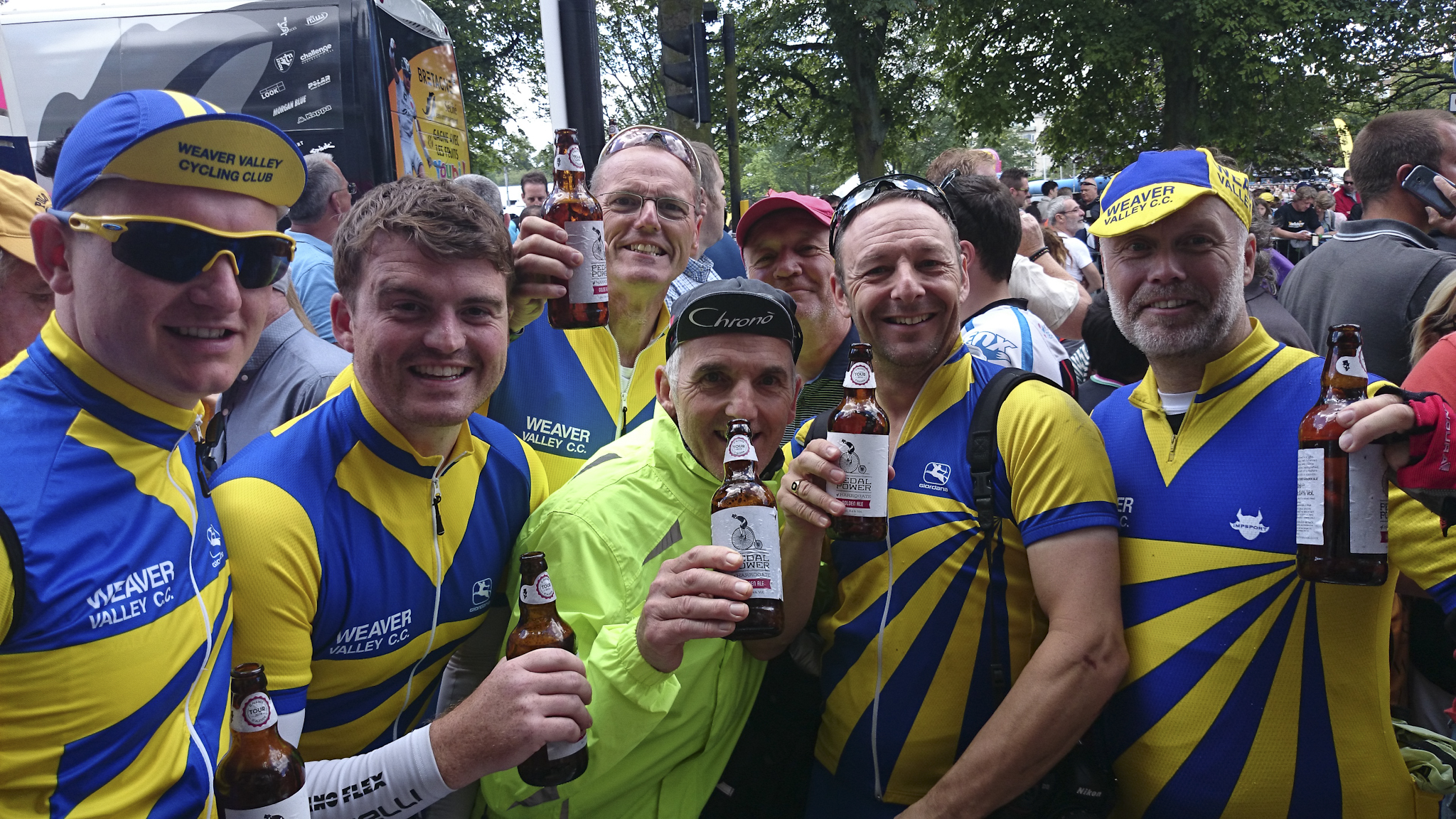 Thirsty work. Sorry Gina Bebbington, but we drank all of the Pedal Power Golden Ale, and left none for you...