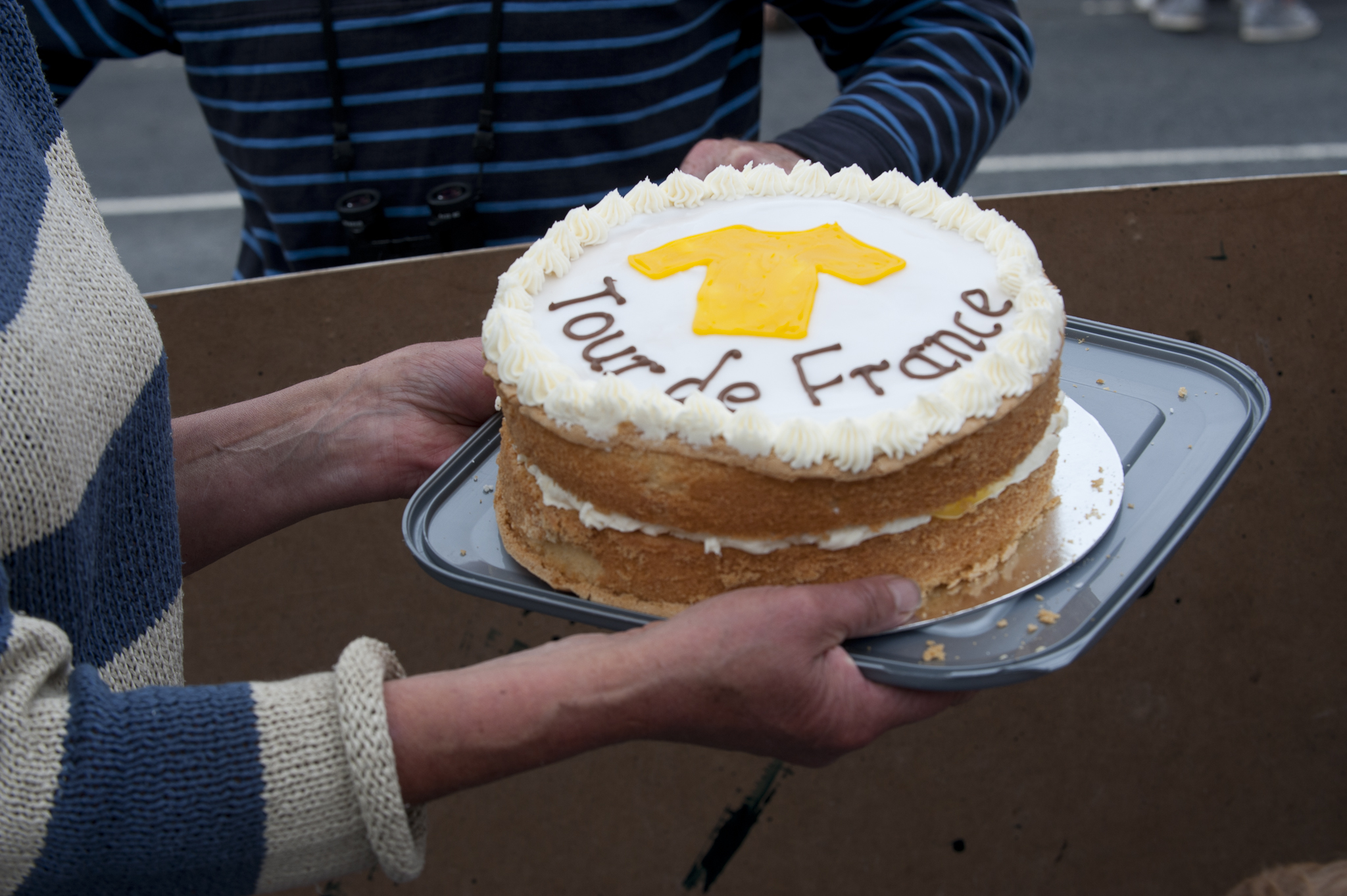 ..but one of the locals had made cake, and upon hearing our story..