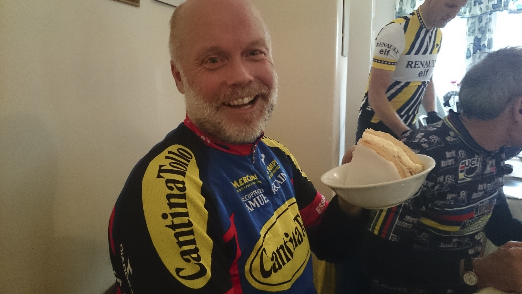 Paul, that is the biggest portion of Victoria Sponge we've ever seen, you'll never be able to eat it...