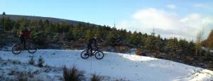 Llandegla in the snow.