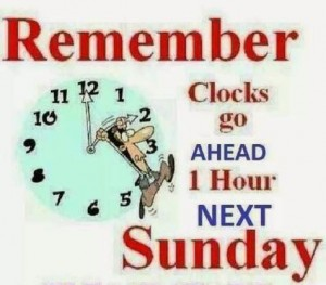 1 hour more to ride your bike… clocks go forward this Sunday and meet at 09:30!!