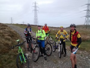 A band of happy cyclists, (before the 40 minute ascent)