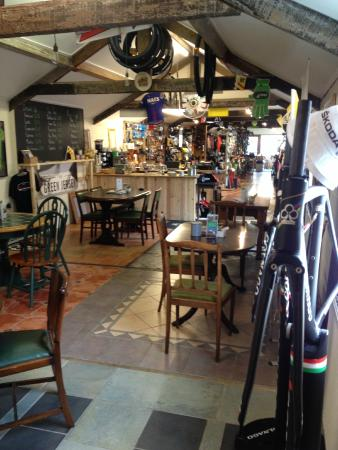 The Green Jersey, bike shop and brew hut extraordinaire
