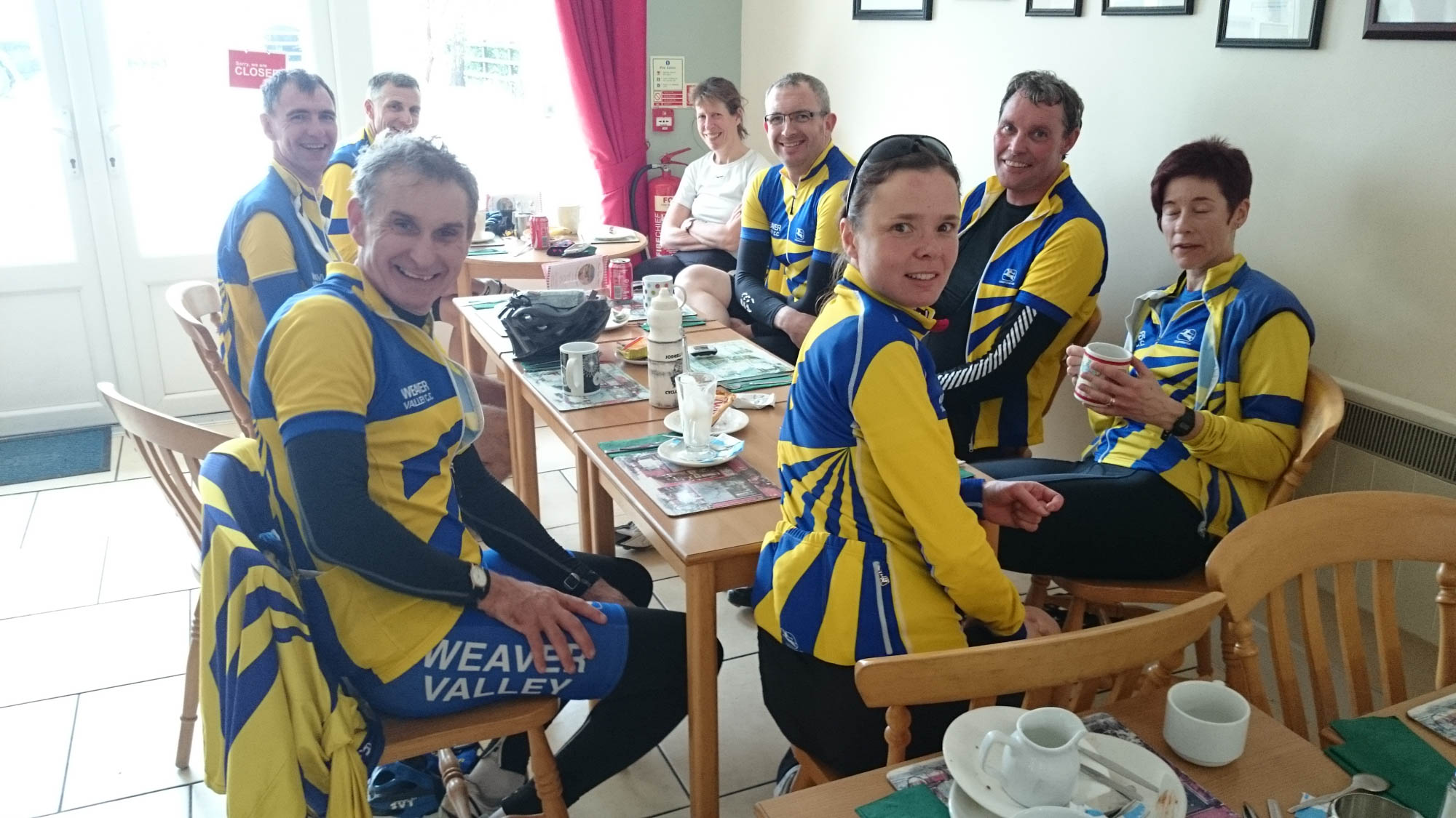 Happy Ron Sant riders at the second brew stop of the day, Brevet Populaires almost complete...!