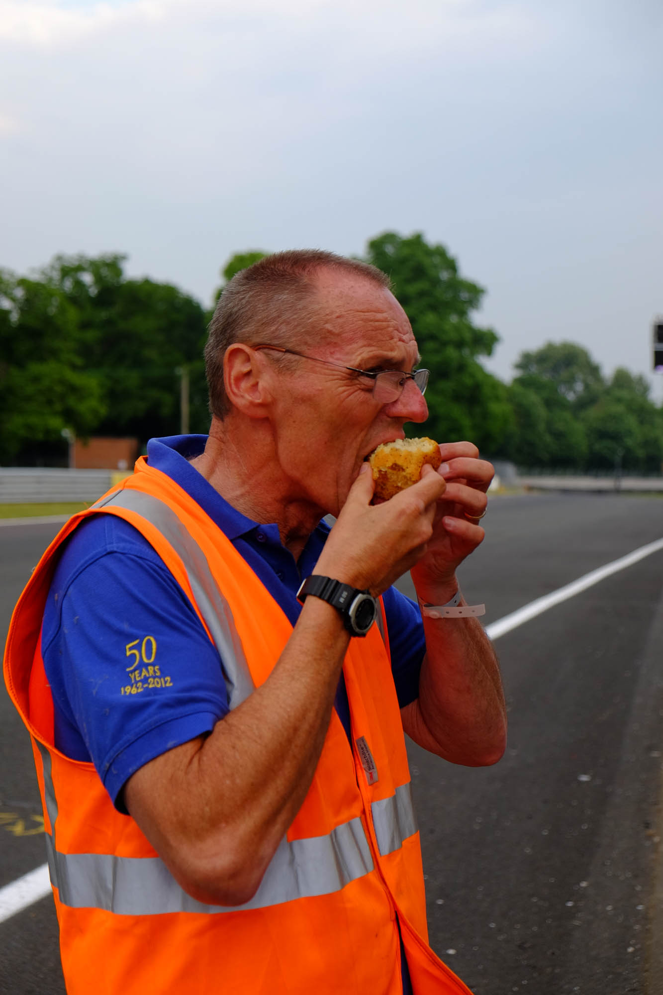 Alan busy fuelling up for the event