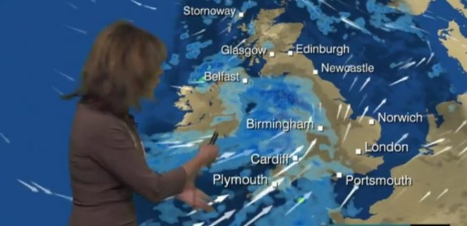 Louise Lear kindly warned us in the BBC weather forecast. Did we take any notice? Take a guess.