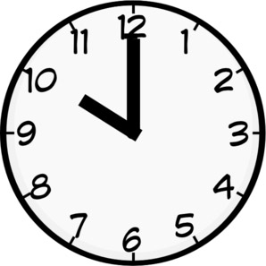 10 o'clock - in the morning - our winter start time!